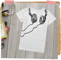 Aliexpress.com : Buy New Designer! Cool Boy's Fake Music Headphone Print Pattern Short Sleeve T shirt/ Top/Pullover, Free Shipping K0122 from Reliable Boy's Top suppliers on SICIBAY - Women's Clothing : Selling for Donating