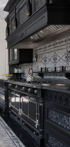 Discover how a warm Italian kitchen design brings food and family together in this photo gallery of traditional style cabinets, decor, and ideas. Home Decor: Discover how a warm Italian kitchen design brings … Source by pfernandezxv Gothic Interior, Gothic Home Decor, Modern Interior, Victorian Gothic Decor, Home Decor Kitchen, Interior Design Kitchen, Kitchen Ideas, Interior Office, Bedroom Office