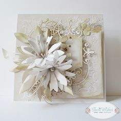 Gallery of handicrafts: Delikatność - Boore Chloes Creative Cards, Shabby Chic Cards, Birthday Cards For Women, Shabby Flowers, Paper Artist, Christmas Cards To Make, Cute Cards, Cards Diy, Sympathy Cards