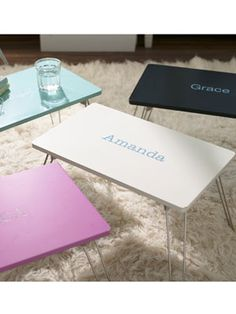 These cute lap desks are perfect for studying on your bed! #17college