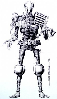 Judge Dredd Database: Page 21, Judge Mortis Close-Up Comic Art