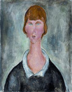 Amedeo Modigliani – PORTRAIT DE JEUNE FEMME, 1918-19 | Musée des beaux-arts La Chaux-de-Fonds, Suisse.