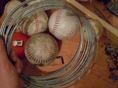 DIY baseball wreath