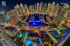 Photographer Karim Nafatni gives new energy to the glowing lights of bustling Dubai in his stunning series of cityscapes, simply called Rooftop Photography.