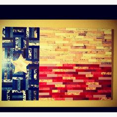 DIY scrapbook paper Texas Flag wall decor