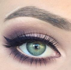 Image result for makeup looks for a purple dress