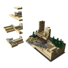 Fallingwater on pinterest falling waters frank lloyd wright and lego - Lego falling waters ...