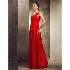 A-line Strapless hem-length Satin Bridesmaid Dress – USD $ 99.99