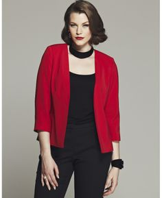 BESPOKE LUCILLE SEMI FITTED JACKET Item no. UC137EL $45.00 Was $90.00 Save $45.00