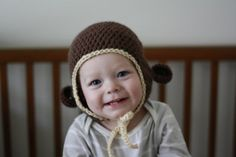912 months monkey hat by ClamorsHandmade on Etsy, $12.00