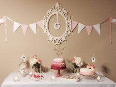 Pink & White Bird Themed Baby Shower