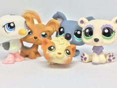 Littlest Pet Shop Brown Yorkie #6 + 4 Animals Lot - 100% Authentic LPS #Hasbro