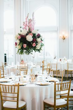 Held at The Georgian Terrace hotel, this wedding was relaxed, yet elegant, with beautiful pink flowers and photographed by Our Labor Of Love. Georgian Terrace Hotel, Reception Table Design, Wedding Day Inspiration, Wedding Ideas, Magnolia Leaves, Little Black Books, Elegant Bride, Bride Look, Summer Wedding