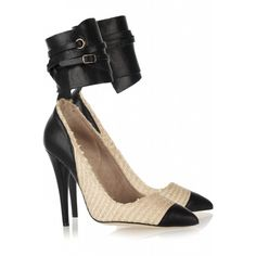 Isabel Marant High-Heeled Leather Suede Leather Beige   $168.00
