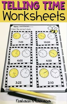 Telling Time Activities, Math Activities, Teaching Ideas, Student Teaching, Teaching Time, Teaching Tools, Internet Explorer, 2nd Grade Worksheets, Homeschool Worksheets