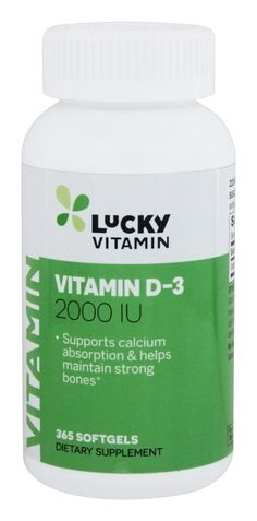 LuckyVitamin - Vitamin D3 2000 IU - 365 Softgels >>> You can get more details by clicking on the image. (This is an Amazon Affiliate link and I receive a commission for the sales)