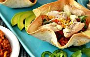 Chicken Taco Bowls with Pinto Beans & Rice