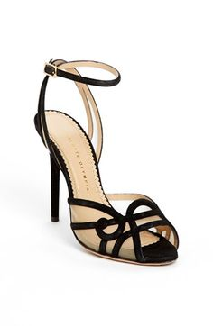 Charlotte Olympia 'Sugar' High Black Ankle Strap Sandals heels