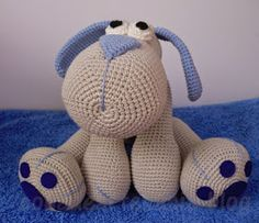 Free pattern,  Amigurumi puppy Leopoldo. Use google translate to change to English or any other language