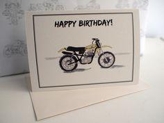 Yamaha DT 500 Birthday Card