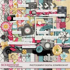 Photography Digital Scrapbooking Kit | ScrapVine