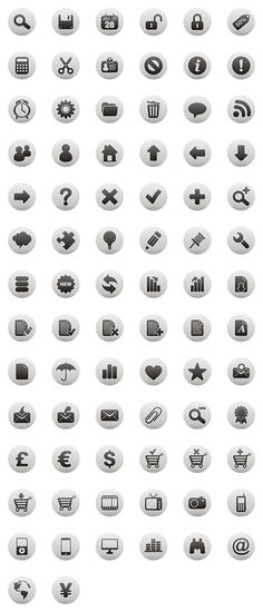 """""""Luna Grey"""" icon set, by DryIcons.com. #web #icons #grey #UI #UX #round Workshop Design, Web Design, Flat Design, Icon Font, User Experience, Ui Ux, Stationery, Blue, Branding"""