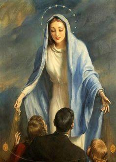 Aparecei, apóstolos de Maria! Como nosso século precisa de vossas enérgicas lições e de vossos exemplos de amor à cruz, pois todo ele está mergulhado no oceano do luxo e da sensualidade que avassalam...