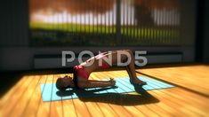 Bridge Yoga Pose in Yoga studio 3D Animation 2 - Stock Footage   by boscorelli
