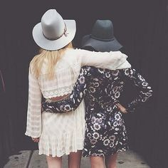 Actually, this would be more like us casually walking down the street. Dresses...definitely dresses.