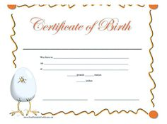 Pics For Birth Certificate Template For School Project Kgzrtlmd