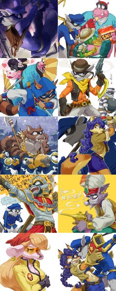 Sly Cooper Thieves In Time doodles by ~nmrbk on deviantART