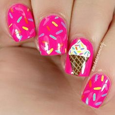 Want to have a crack at nail art? Looking for cute and easy nail art ideas and designs? Here are some fun DIY nail art tutorials for you to try out! Nail Art Diy, Easy Nail Art, Cool Nail Art, Kid Nail Art, Easy Nails, Nails Art Red, Pink Nails, Nail Art Rosa, Birthday Nail Art