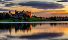 Classic Linlithgow Palace at sunset. This historic palace was once home to…
