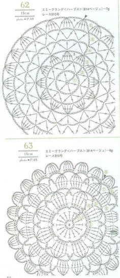 best Ideas for crochet shawl pattern circle Crochet Mandala Pattern, Crochet Circles, Crochet Diagram, Crochet Stitches Patterns, Crochet Squares, Crochet Chart, Thread Crochet, Crochet Dollies, Crochet Flowers