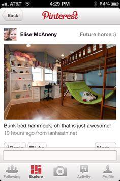 Hammock under loft bed WHAT?????