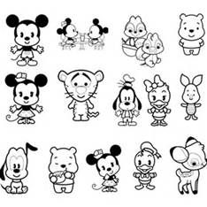 Image result for Disney Character Coloring Pages Collage Things