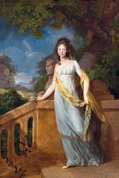 Kronprinzessin Luise in einer antikisierenden Landschaft Johann Frierch August Tischbein