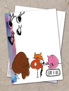 """Postkarte """"Punk'N'Roll"""" von Granatapfel - Onlineshop mit Illustriertem. auf DaWanda.com"""