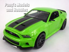This model of the 2014 Ford Mustang GT is about 8 inches long, 3.25 inches wide and 2.5 inches high. It is highly detailed, with beautiful body paint and accurate markings. The headlights look quite r