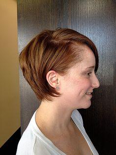 Side of short hair
