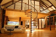 I love the stairs, and the upper level.