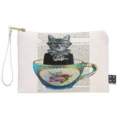 Coco de Paris Cat In A Cup Art Canvas | DENY Designs Home Accessories