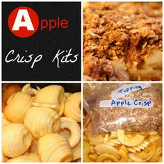 Apple Crisp, can be baked or frozen and cooked in crock pot