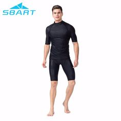 c5c9b03e9e63 SBART 2017 Short Sleeve Wetsuit Men Rashguards Swim Shirt Long Sleeve  Wetsuits For Swimming Trunks Mens Swim Wear Swim Shorts