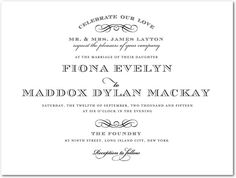 Stylishly Scripted - Engraving Wedding Invitations - East Six Design - ENG Black - Black : Front