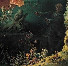 Detail: Jean Honore Fragonard The Swing BR Color Palette