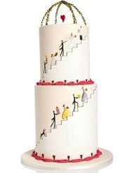 Cute stacked cake wi