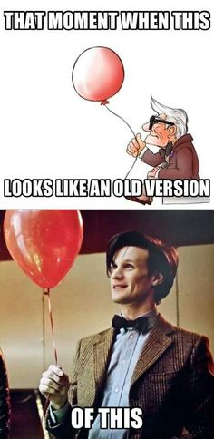 Doctor Who and Up. do you know how many relations of these two have been made? it's almost like the entire movie up was made to revolve around doctor who!
