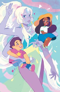 "diastrons: "" My Steven Universe print for Anime Expo 2016! Grab one at table C47!!! """