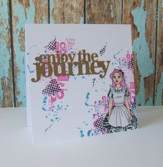 Splatter stamp by PaperArtsy. All other stamps by Carabelle Studio.